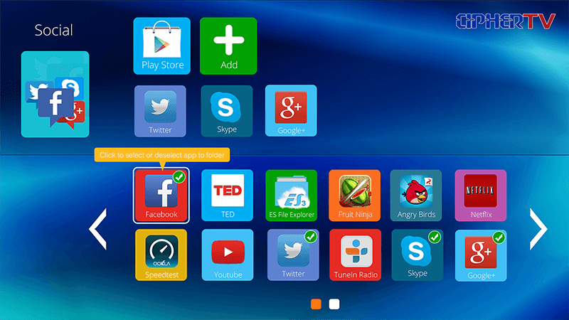 4 Add apps to folder